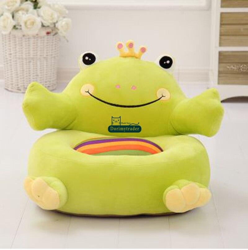 Dorimytrader Pop Cartoon Frog Plush Child Sofa Soft Children Chair