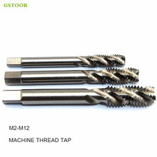 1pc M2 M2.5 M3 M4 M5 M6 M7 M8 M10 M12 metric high speed steel HSS spiral groove machine tap 6 pcs set 1 4 hexagon hss m3 m4 m5 m6 m8 m10 high speed steel spiral threads screw metric composite press drill bit