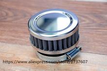 1 stücke Edelstahl Ring Motorrad Luftfilter 46MM 48MM 50MM 52MM 54MM 60MM Reiniger für SR400 CB550 CB750 Kawasaki KZ650