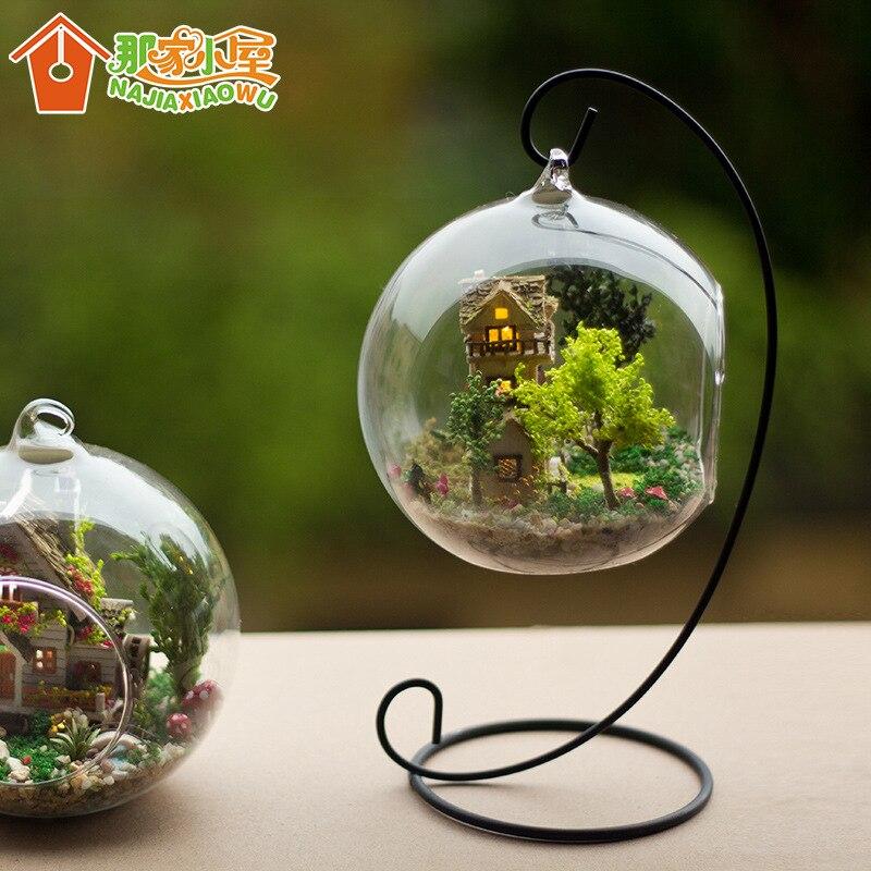 g diy casa de muecas miniatura de mini bola de cristal kits de edificio modelo de