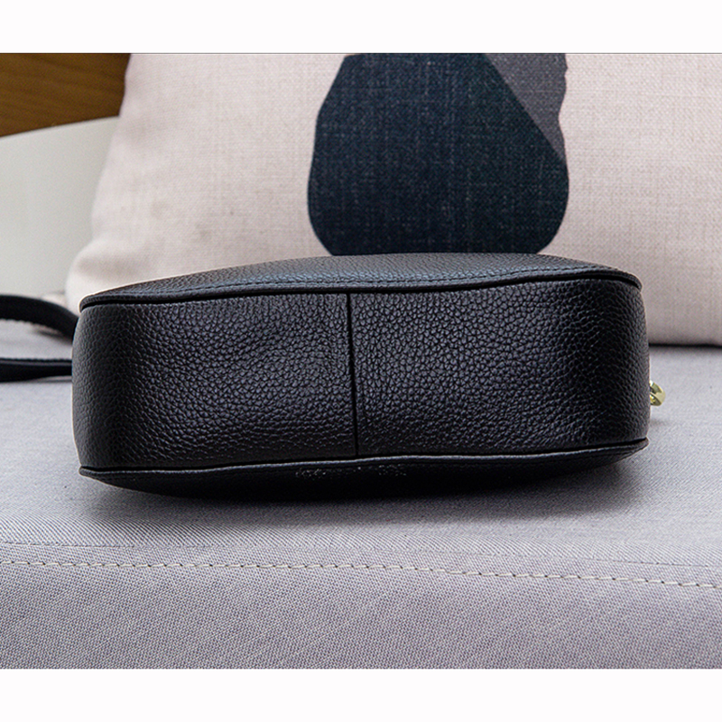 Image 5 - Genuine Leather Small Crossbody Bags For Women Fashion Shoulder  Bag Ladies Messenger Handbags Luxury Crescent Purse Totegenuine leather  hand bagleather hand bagshand bag