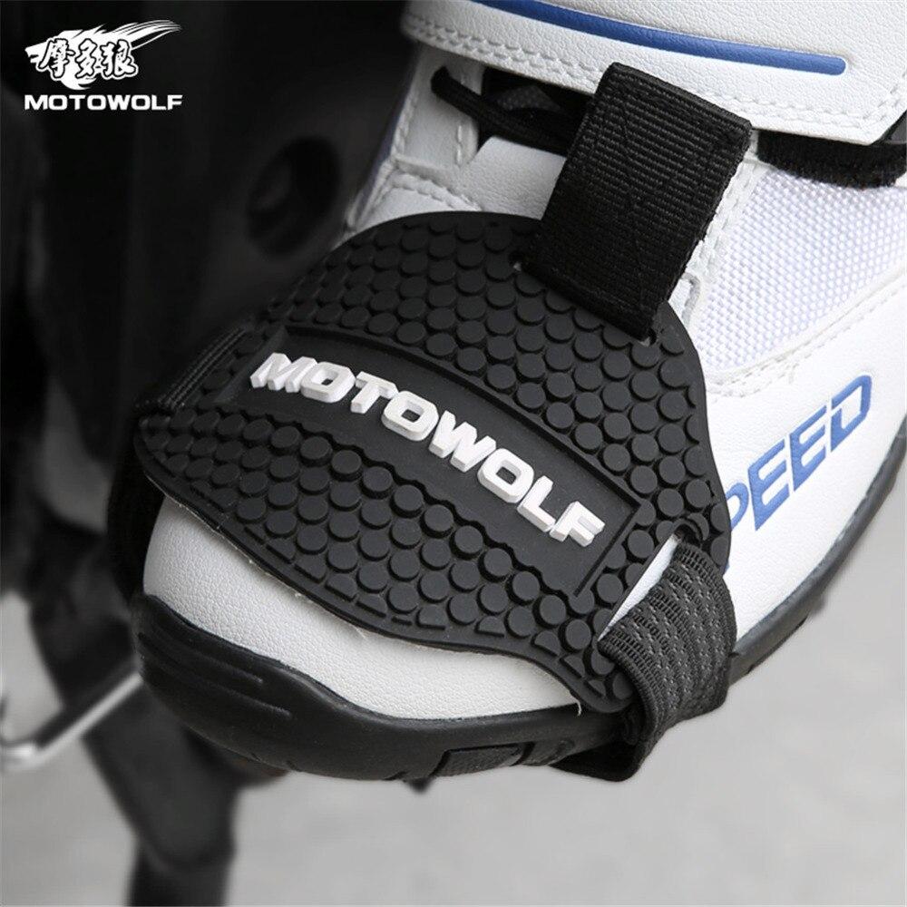 Отслеживаются резиновая износостойкими мотоцикл Шестерни Shift Pad обувь для верховой езды потертости Mark протектор мотоцикл Сапоги и ботинки ...