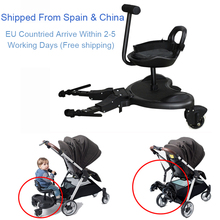 2-in-1 Cozy Twins Stroller Standing Plate Rider Buggy Sibling Board Baby Stroller Trailer