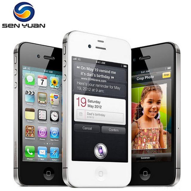 Original Apple iPhone 4S  3G WIFI GPS 8MP 1080P 3.5″IPS 960x640px Touchscreen Unlocked Mobile Phone