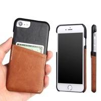 For Iphone 6 6s 7 Plus Retro Genuine Leather Dermic Case Cover Card Slot Slim Cases