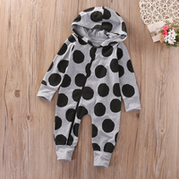 UK Newborn Infant Baby Boys Girls Romper Hooded Jumpsuit Clothes Outfit