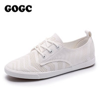 GOGC 2018 New Style Women Shoes With Hole Breathable Women Flat Shoes Women Sneakers Casual Shoes