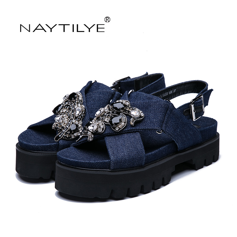11e898033e ... Size woman ECO 35 2017 NAYTILYE Crystal leather Tree colors shipping  women Flat Summer 41 Free ...