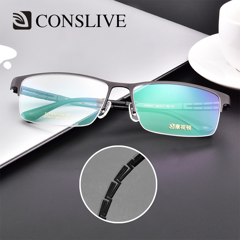 Men Prescription Glasses Big Head Titanium Vision Correction Man Dioptric Glasses Oversized Flex Man Eyeglasses (PD 70 Above)(China)