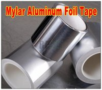 1x 50mm 50 Meters 0 078mm Mylaral Mylar Aluminum Foil Papper Tape Can T Be Torn