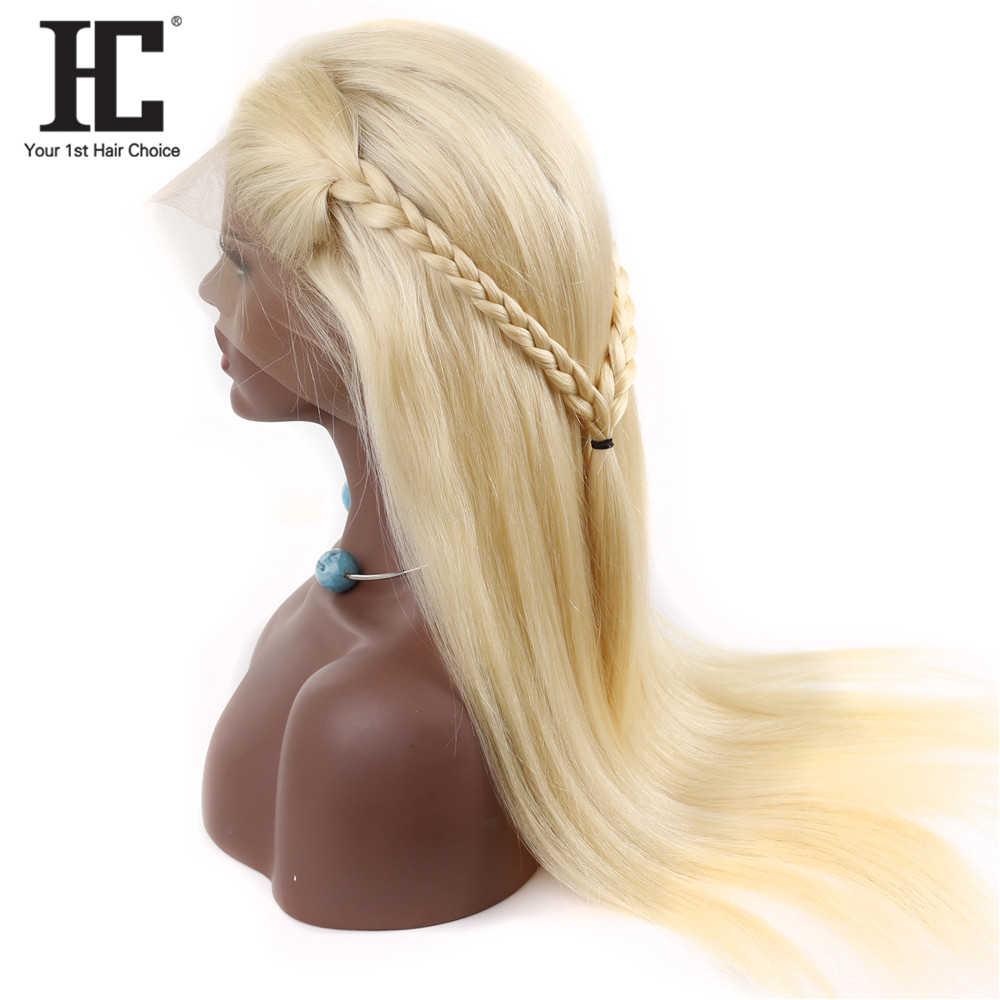 613 miód blondynka 13x4 koronki przodu włosów ludzkich peruk wstępnie oskubane brazylijski prosto bezklejowy peruki typu Lace Front Remy 150% HC
