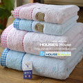 Free shipping lovely Bear soft pink blue towel child baby towel 34x35cm 50g