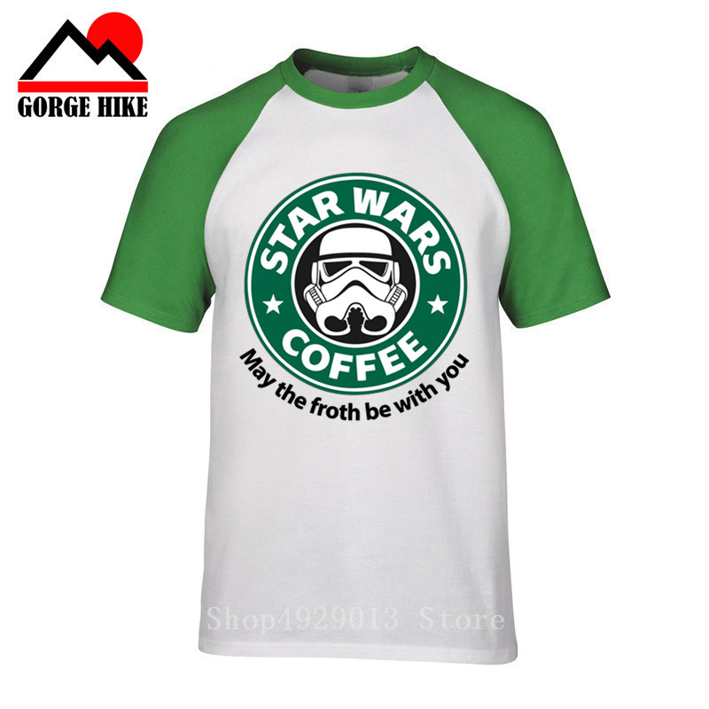 Star War T-shirts Coffee ArmorLock t shirt men Funny novel men 's top tees Harajuku Style warrior t shirt Darth Vader camiseta image
