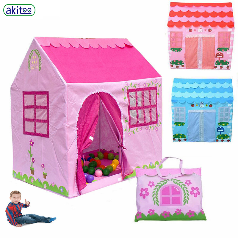 new concept fc998 57429 US $38.07 32% OFF|akitoo New arrival 4 types Children rabbit Tent House Toy  Indoor outdoor Game Room Tents For Kids early education toys gift-in Toy ...
