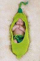 0-3 Monate Stricken Neugeborenen Baby Decke Schlafen Bunting Taschen Winter Schlafsack Für Kinder Fotostütze