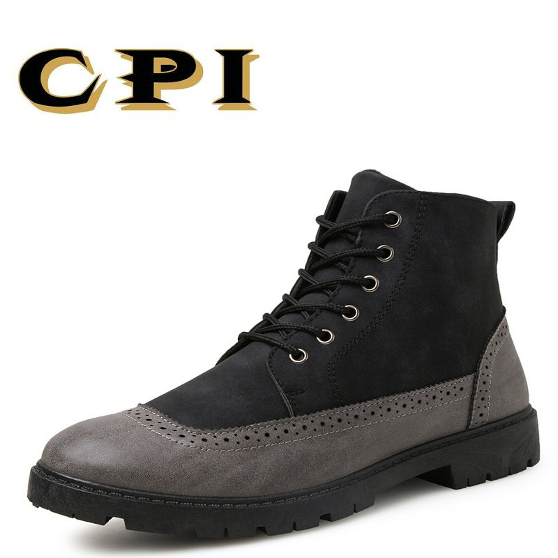 CPI 2018 New Men Shoes New Spring and Autumn Casual Fashion Safety Martin shoes Breathable Flat Leather Waterproof Shoes PP-187 fabrecandy spring autumn men casual shoes 2017 classic breathable air mesh men shoes fashion men s flat unisex lover shoes01