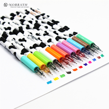 NORRATH 11 Pcs/lot Color Gel Pen Kawaii Stationery Korean Flower Canetas Escolar Papelaria Gift Office Material School Supplies