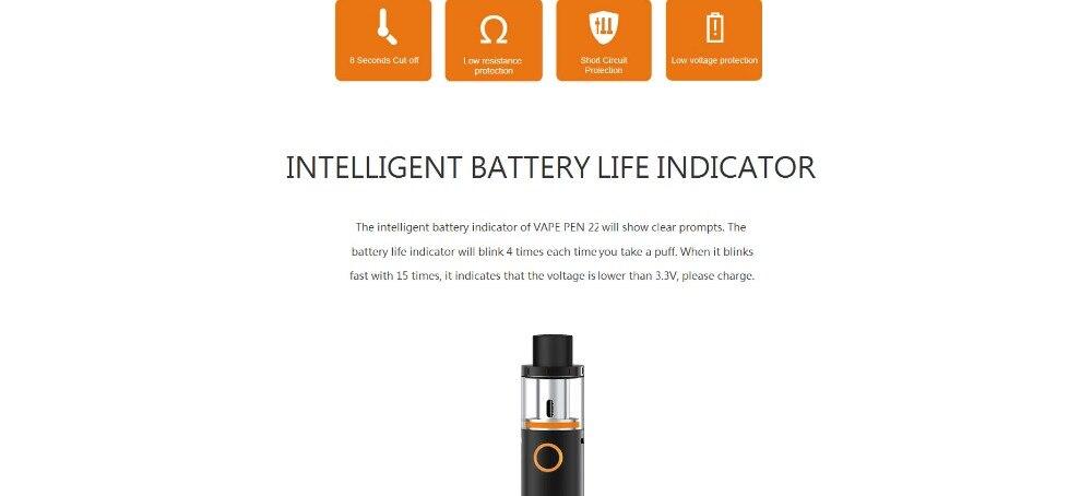 US $75 99 5% OFF|5pcs/lot Electronic Cigarettes Smok Vape Pen 22 Kit Built  in 1650mah Battery Vape Pen 22 Tank 0 4 ohm E Cigarettes-in Electronic