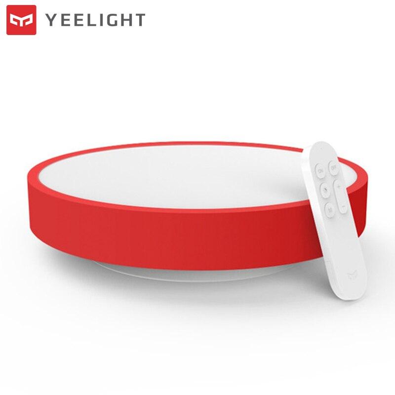Оригинальный XIAOMI YEELIGHT 28 Вт светодиодный Smart потолочный светильник удаленного Ми приложение WI-FI Bluetooth Управление Smart Светодиодный Цвет IP60 пыл...