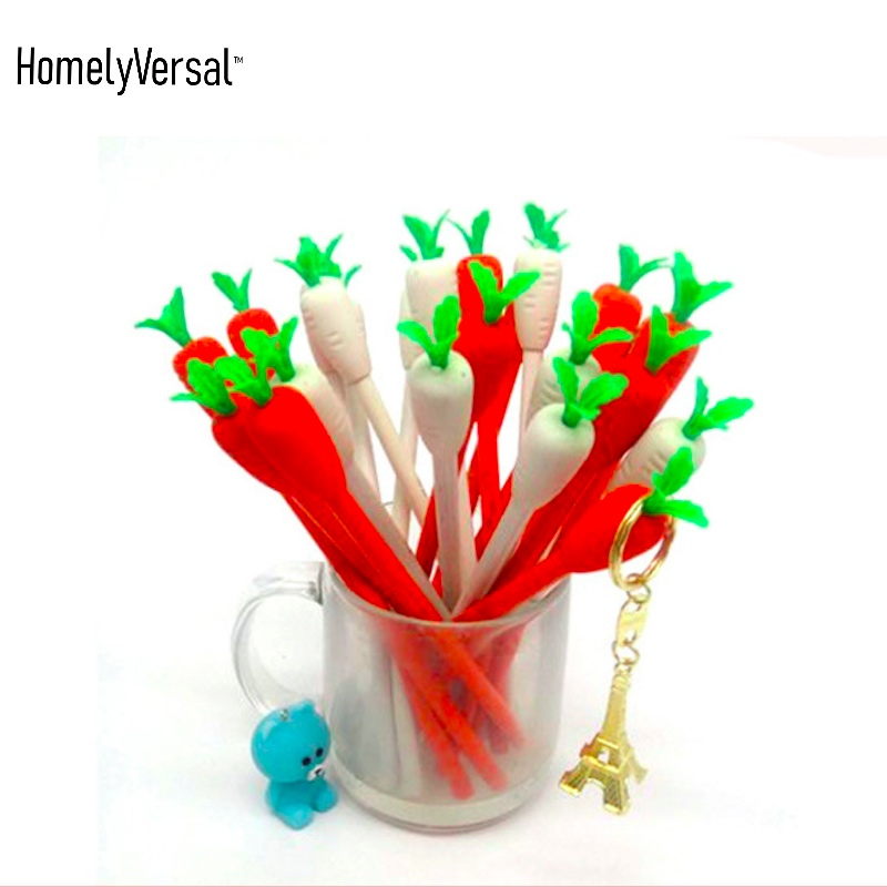 US $1 89 |6 pieces cute Carrot creative HB pencil with an eraser Primary  School children pencil school supplies promotion gift-in Standard Pencils