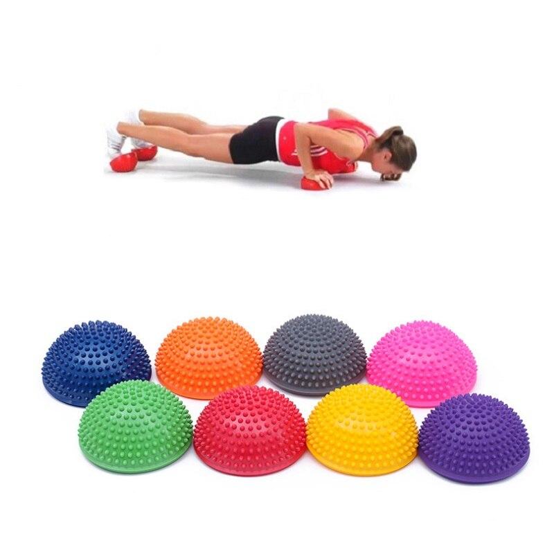 3b1838d2a2 Meia Bola de Yoga Aptidão Física Aparelho massagem ponto de equilíbrio Bola  Exercício stepping stones vagens equilíbrio bosu YoGa Pilates 2 pc em Bolas  Para ...