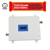 ZQTMAX 3g gsm repeater dual band 900 2100 cell phone signal booster WCDAM UMTS cellular amplifier for home and office