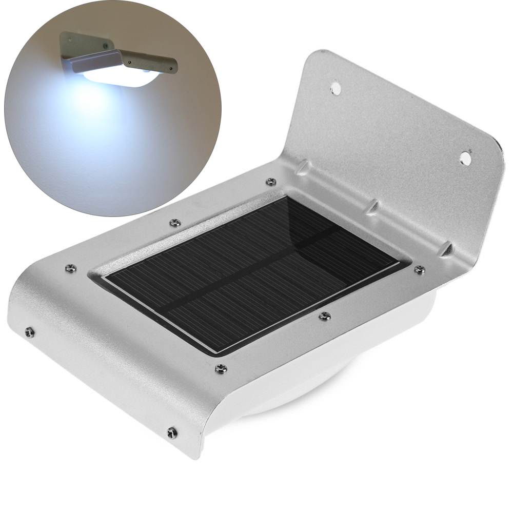 16 Leds Outdoor Waterproof Ip65 Led Solar Wall Lamp 120 Degree Motion Light Energy Saving Infrared Sensor Security