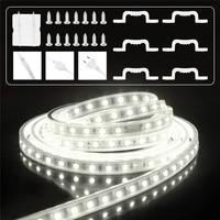 LED Strip 60 leds/m Light silicone tube IP65 Waterproof 6m white led strip 220V stripe with EU plug Cold White Ribbon Tape
