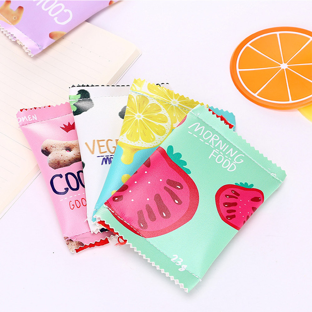 Women Girls Cute Fashion Snacks Coin Purse Wallet Bag Change Pouch Key Holder