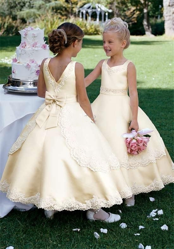 Compare Prices on Champagne Flower Girl Dresses- Online Shopping ...