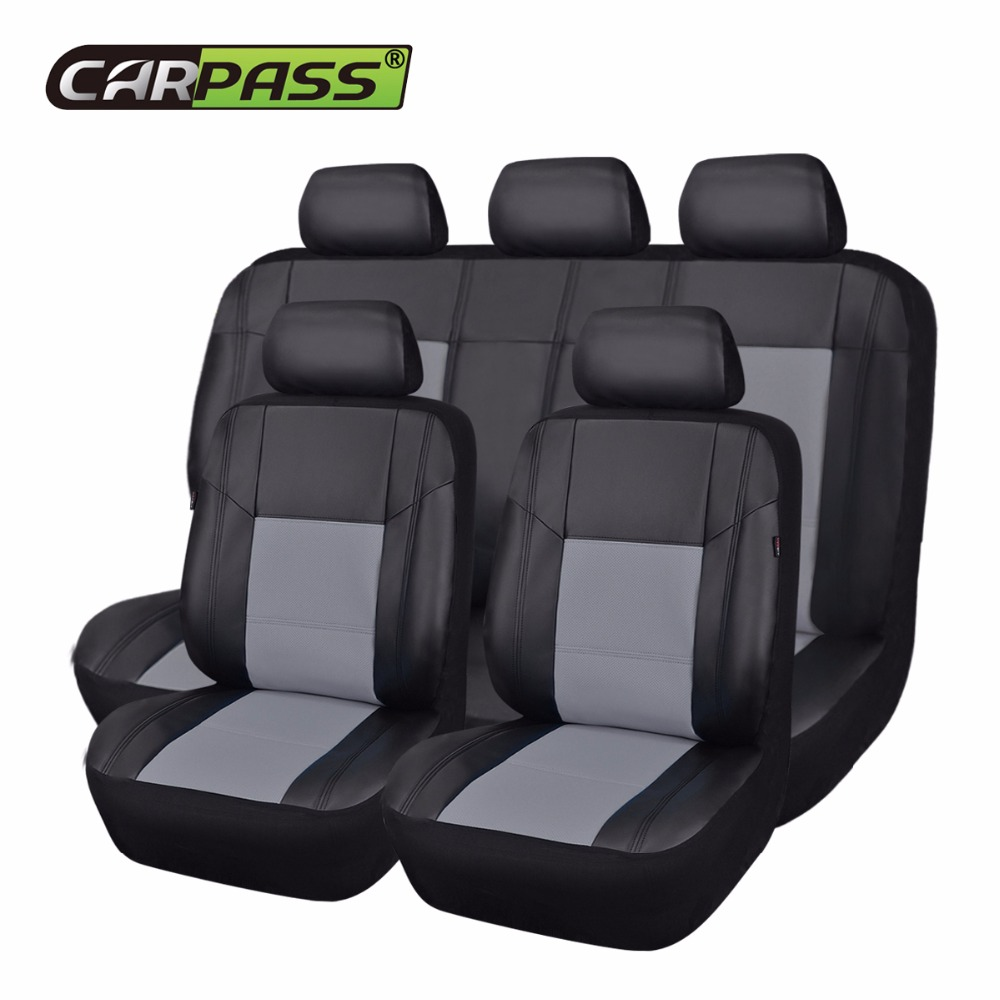 Car-pass Pu Leather Car Seat Cover 9 Color Seat Covers funda asientos automovil Car Auto ...