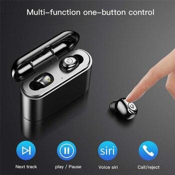 т мобильный блютуз наушники | Беспроводные наушники Bluetooth 5,0 с микрофоном, шумоподавление, водонепроницаемые спортивные наушники для IPhone XR XS 8 Plus, смартфона