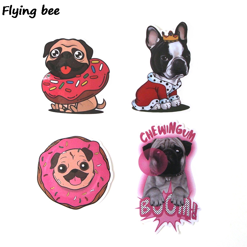 Image 5 - Flyingbee 15Pcs Bulldog Funny Waterproof Sticker Scrapbooking for phone luggage laptop guitar Graffiti Decal Pet stickers X0282-in Stickers from Consumer Electronics