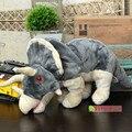 55 см ПП Хлопка Аутентичные Дикий Республика Динозавра трицератопса Руку Кукольный Куклы Плюшевые Игрушки Детям Подарок
