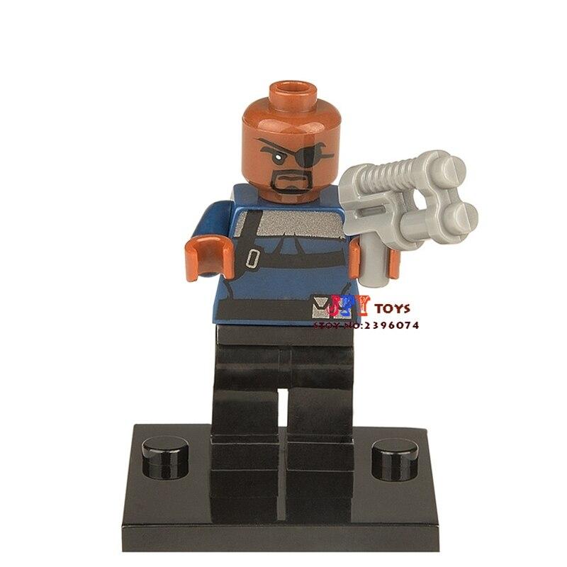 50pcs superhero NICK FURY building blocks bricks friends for girl boy kids children toys brinquedos menina