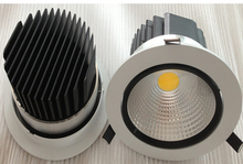 Wholesale price AC85-265V Dimmable 7W/12W Warm Pure Cold White COB LED Downlight led down light Free Shipping