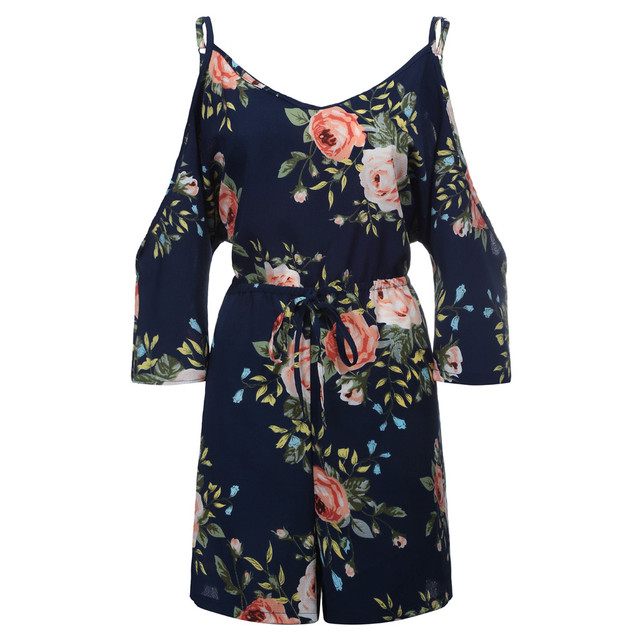 Women Chiffon Playsuits Shorts Femme Summer Vacation Onesies Overalls Rompers Bohe Beachwear Short Jumpsuit Hollow Out Cami 4