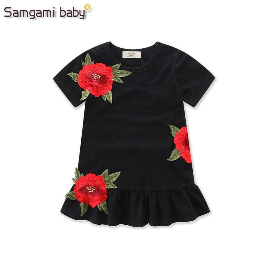 SAMGAMI-BABY-New-Embroider-Design-Black-Short-Sleeve-Dresses-Fashion-Cute-Girls-Clothes-Summer-Toddler-Girl-Dresses-Size-80-120-1