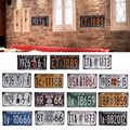 For Craft Art Vintage Decoration Wall Retro Decor 15.3*30.5cm Metal License Plate Decorative Wallpaper