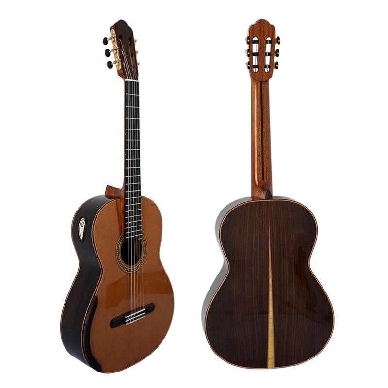 Aiersi Yulong Guo chambre professionnelle Nomex Double haut guitare classique modèle GC02A