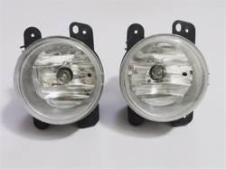 1 пара левой и правой стороны туман с лампой Противотуманные фары прозрачные линзы для 2007-2011 Jeep Wrangler