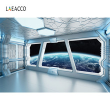 Laeacco Fantasy Spaceship Interior Planet Scene Photography Backgrounds Customized Photographic Backdrops For Photo Studio