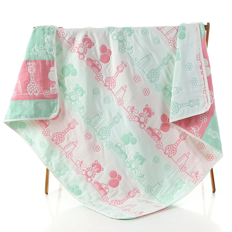 Child towel towe Childrens cotton gauze bath towel Childrens breathable blankets Suitable for baby soft skin towels