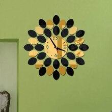 New 3D Wall Clock Sticker DIY Creative Wall Clocks Minimalist Fashion Living Room Silent Wall Clock Modern Design Stickers