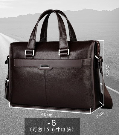 Genuine leather briefcase 15 6 inch laptop bag for 15 6 inch notebook computer