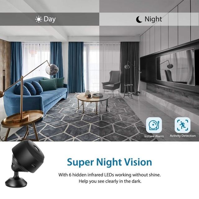 Mini Camera, Home Security Camera WiFi, Night Vision 1080P Wireless Surveillance Camera, Remote Monitor Phone App 4