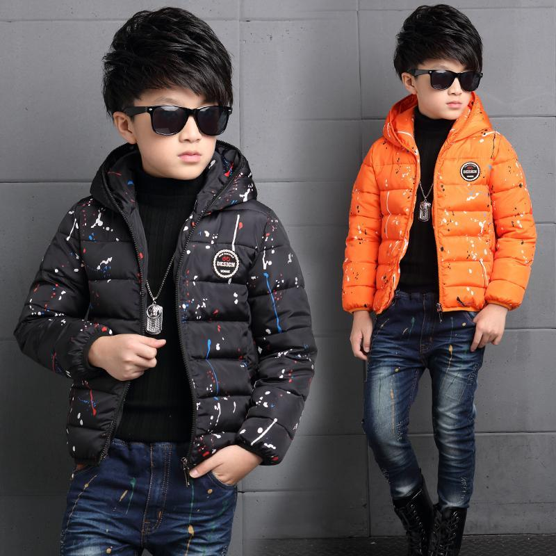 2017 New Fashion Colourful Cotton Boys Clothes Solid White Duck Down Trendful Winter Cutton Warm Cute