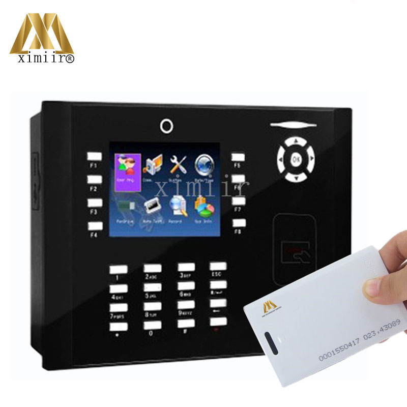 M880 Time Recording Proximity RFID Card Time Attendance Anti-Passback With Photo-ID Camera Web-server Time Clock