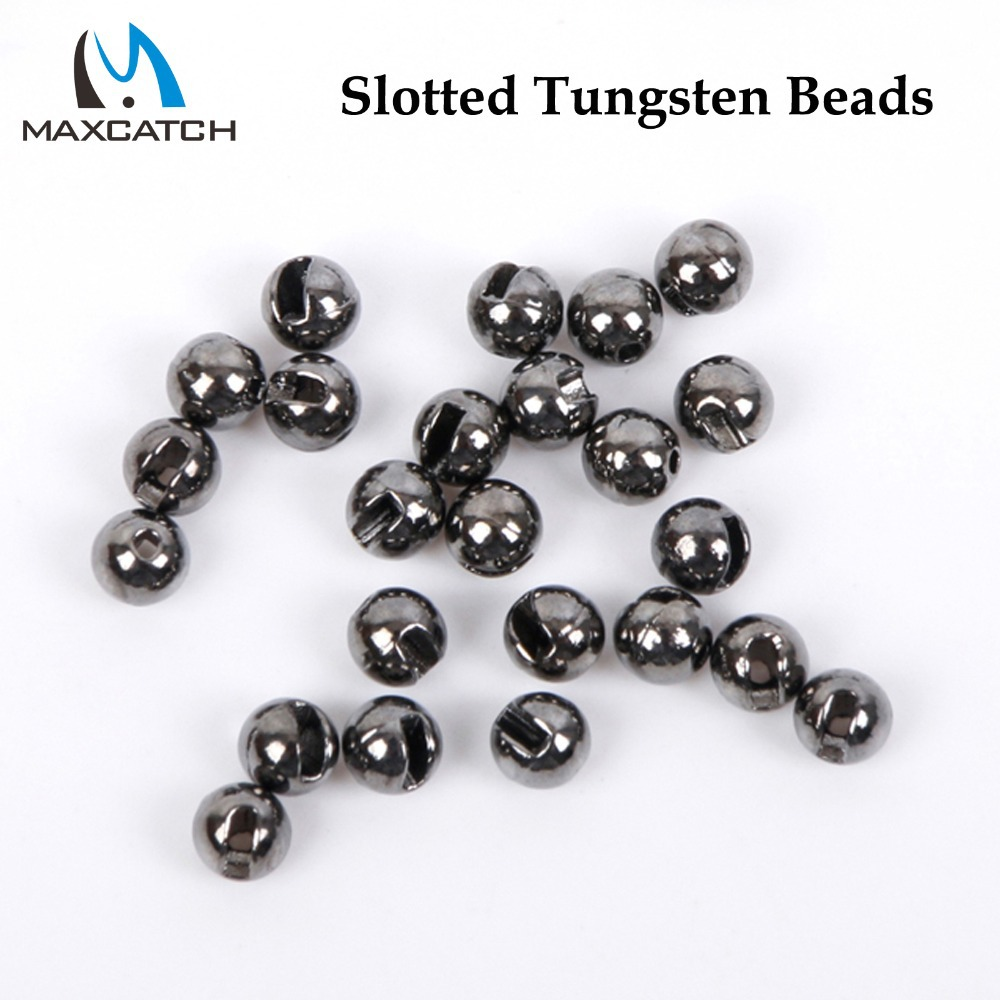 Maximumcatch 25Pcs/lot Nice-Designed Slotted Tungsten Beads Fly Tying Beads Tungsten 2.4mm/2.8mm/3.3mm/4.0mm Fly Tying Material tungsten alloy steel woodworking router bit buddha beads ball knife beads tools fresas para cnc freze ucu wooden beads drill