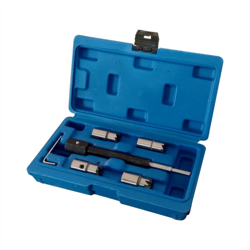 5 peças Diesel Injector Assento Cortador Remover Removal Tool Kit Para BMW Mercedes CRD Bosch Delphi Ford Fiat PSA Peugeot SK1083